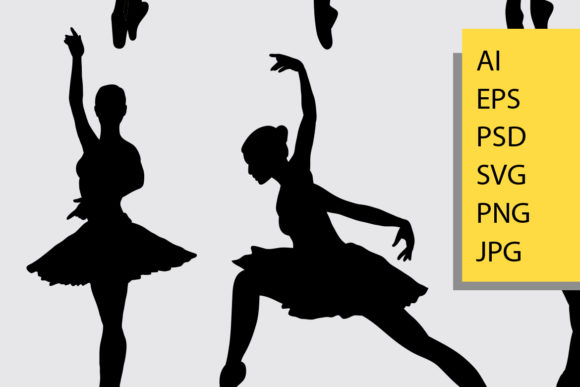 Ballet Silhouette Graphic Illustrations By Cove703 - Image 2