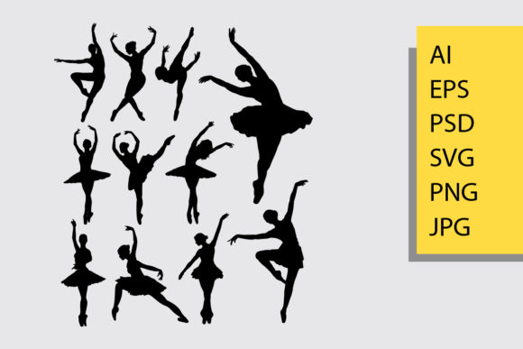 Ballet Silhouette Graphic Illustrations By Cove703 - Image 1