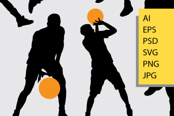 Basketball Silhouette Graphic By Cove703 Image 2