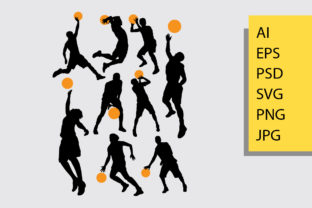 Basketball Silhouette Graphic By Cove703