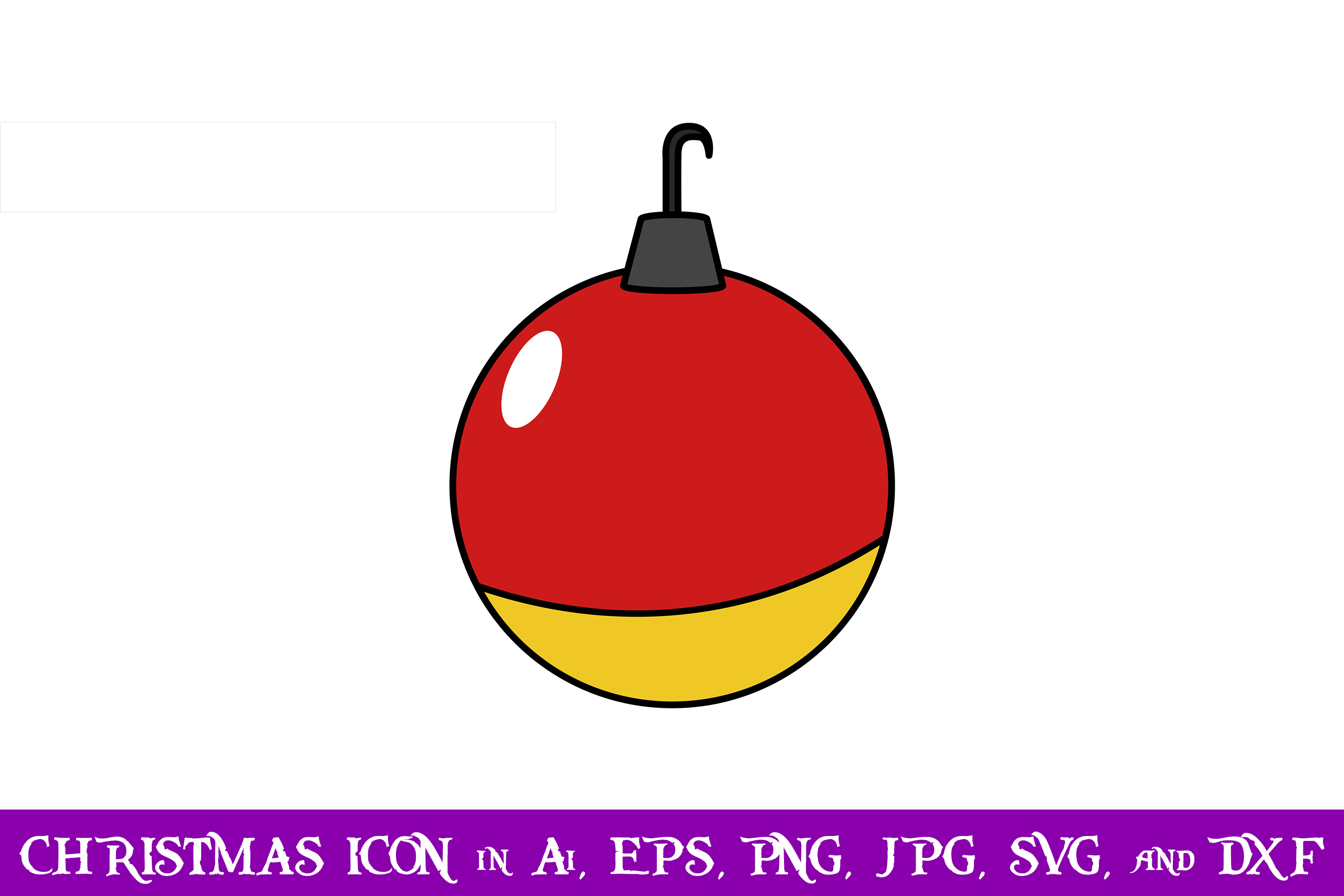 Download Free Baubles Christmas Icon Graphic By Purplespoonpirates Creative for Cricut Explore, Silhouette and other cutting machines.