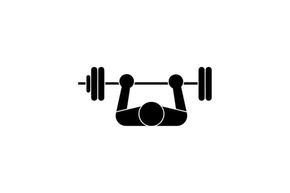 Bench Press Barbell Gym Workout Icon