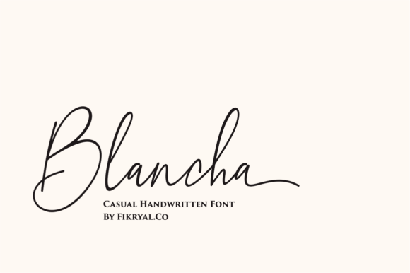 Print on Demand: Blancha Script & Handwritten Font By mfikryalif