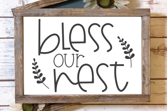 Bless Our Nest Graphic By Morgan Day Designs Creative Fabrica