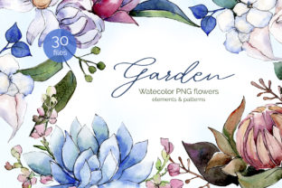 Bouquet of Flowers Bloom Watercolor Png Graphic By MyStocks