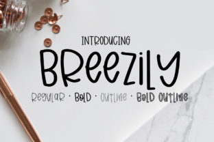 Breezily Font By affinitygrove