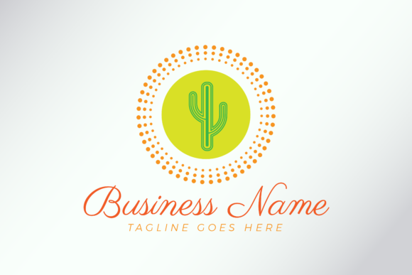 Download Free Cactus Logo Template For Company Graphic By Studioaneukmuda for Cricut Explore, Silhouette and other cutting machines.