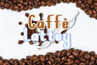 Caffe Lattey Font By Boombage