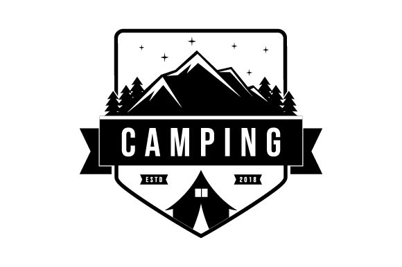 Download Free Camp Glyphicon Logo Design Graphic By Graphicrun123 Creative for Cricut Explore, Silhouette and other cutting machines.
