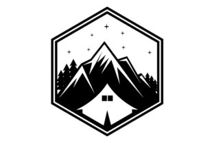 Download Free Camping Tent Glyphicon Logo Design Grafico Por Graphicrun123 for Cricut Explore, Silhouette and other cutting machines.