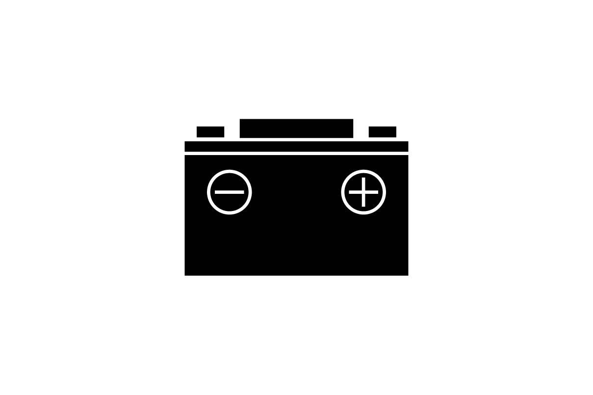 Download Free Car Battery Icon In Glyph Style Grafico Por Hoeda80 Creative Fabrica for Cricut Explore, Silhouette and other cutting machines.