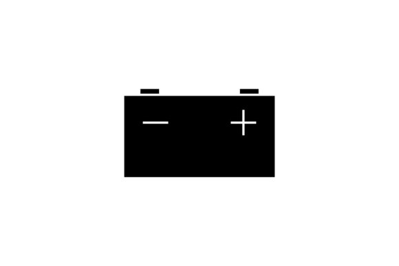 Download Free Car Battery Icon In Glyph Style Graphic By Hoeda80 Creative Fabrica for Cricut Explore, Silhouette and other cutting machines.