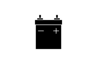 Download Free Car Battery Icon In Glyph Style Grafico Por Hoeda80 Creative for Cricut Explore, Silhouette and other cutting machines.