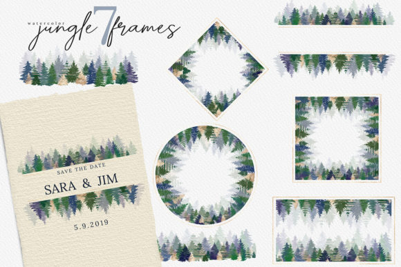 Print on Demand: Christmas Watercolor Tree Cards Graphic Illustrations By 3Motional - Image 9