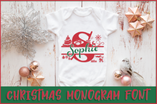 Print on Demand: Christmas Monogram Font Display Fuente Por Anastasia Feya