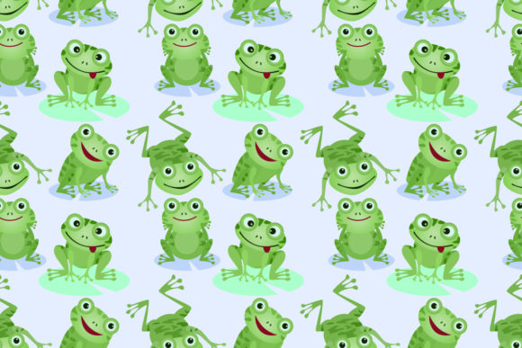 Download Free Cute Green Frogs Seamless Pattern Graphic By Ranger262 for Cricut Explore, Silhouette and other cutting machines.