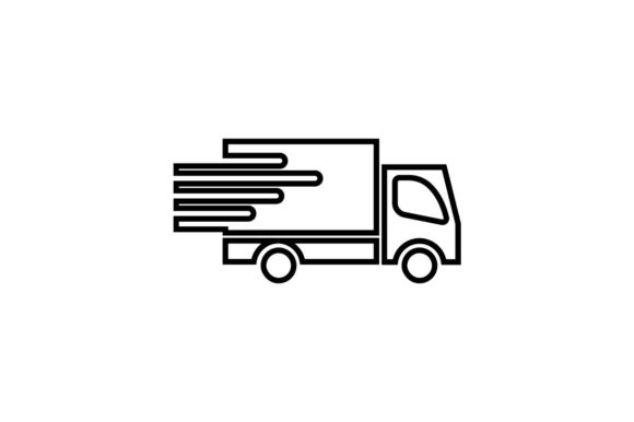 Download Free Delivery Logistic Icon In Line Style Graphic By Hoeda80 for Cricut Explore, Silhouette and other cutting machines.