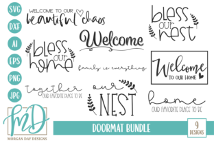 Doormat Bundle Graphic By Morgan Day Designs