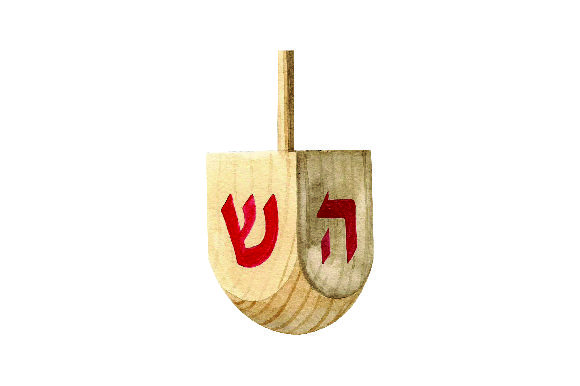Dreidel - Watercolor Style Jewish Craft Cut File By Creative Fabrica Crafts