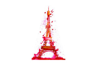 Eiffel Tower - Watercolor Style Travel Craft Cut File By Creative Fabrica Crafts