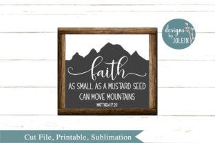 Faith As Small As a Mustard Seed Graphic By Designs by Jolein