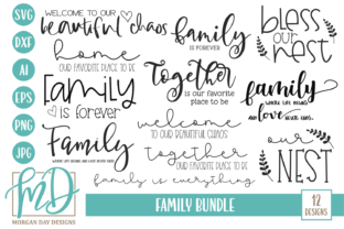 Family Bundle Graphic By Morgan Day Designs
