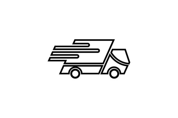 Download Free Fast Delivery Icon In Line Style Graphic By Hoeda80 Creative for Cricut Explore, Silhouette and other cutting machines.
