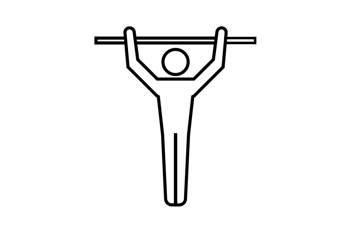 Download Free Fitness Sport Gym Gymnastics Icon Graphic By Hoeda80 for Cricut Explore, Silhouette and other cutting machines.