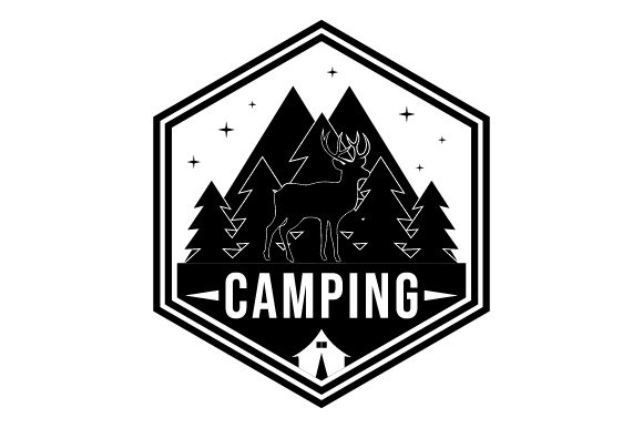 Print on Demand: Forest Camping Glyphicon Logo Design Graphic Icons By graphicrun123
