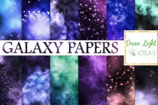 Galaxy Backgrounds Space Digital Papers Graphic By GreenLightIdeas