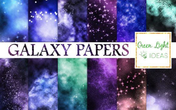 Galaxy Backgrounds Space Digital Papers Graphic Backgrounds By GreenLightIdeas
