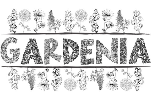 Print on Demand: Gardenia LF Decorative Font By lf_designs