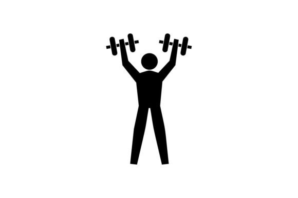 Download Free Gym Fitness Bodybuilding Muscle Icon Graphic By Hoeda80 Creative Fabrica for Cricut Explore, Silhouette and other cutting machines.
