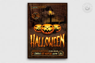 Download Free Halloween Flyer Template V1 Grafico Por Thatsdesignstore for Cricut Explore, Silhouette and other cutting machines.