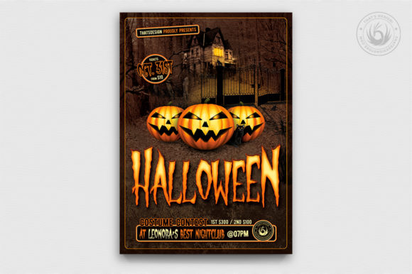Halloween Flyer Template V1 Graphic By ThatsDesignStore