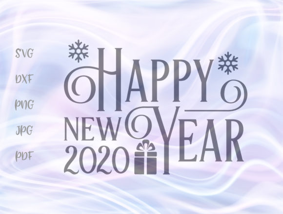 Download Free Happy New Year 2020 Graphic By Digitals By Hanna Creative Fabrica for Cricut Explore, Silhouette and other cutting machines.