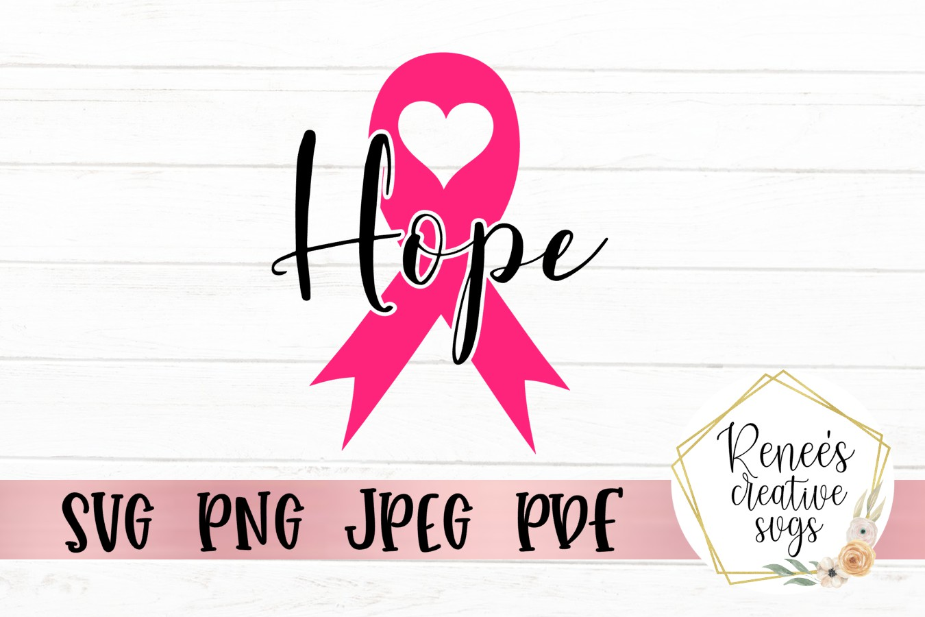 Download Free Hope Breast Cancer Ribbon Graphic By Reneescreativesvgs for Cricut Explore, Silhouette and other cutting machines.