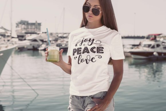 Joy Peace Love Graphic Print Templates By Skull and Rose - Image 2