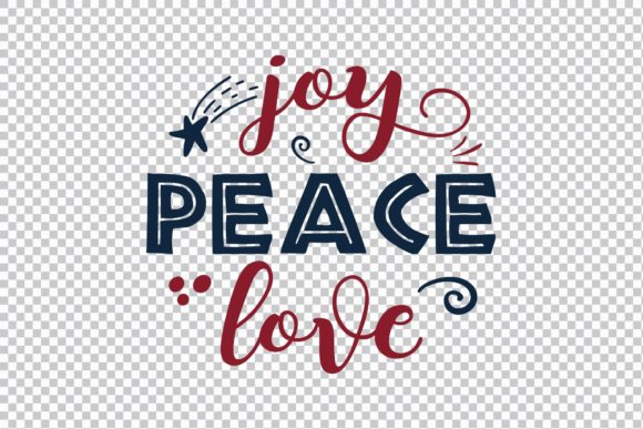 Joy Peace Love Graphic Print Templates By Skull and Rose - Image 3