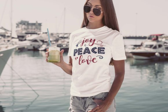 Joy Peace Love Graphic Print Templates By Skull and Rose - Image 1