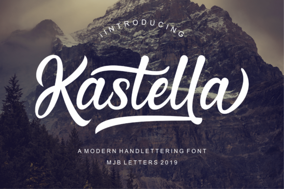 Print on Demand: Kastella Script & Handwritten Font By MJB Letters