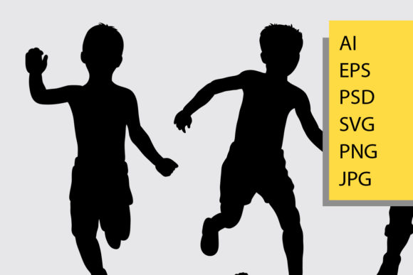 Kids Silhouette Graphic Illustrations By Cove703 - Image 2
