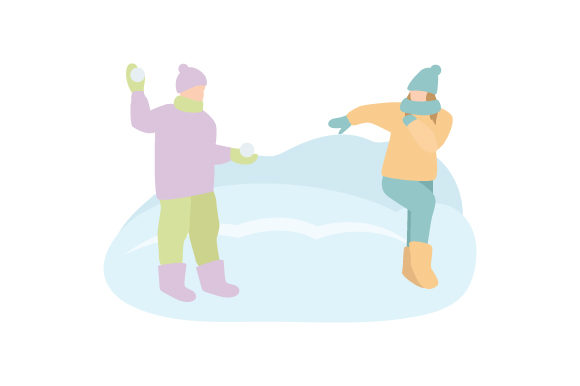 Download Free Kids Having Snowball Fight Svg Cut File By Creative Fabrica for Cricut Explore, Silhouette and other cutting machines.