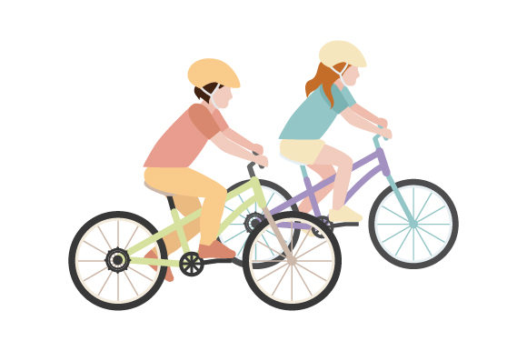 Download Free Kids Riding Bicycles Svg Cut File By Creative Fabrica Crafts for Cricut Explore, Silhouette and other cutting machines.