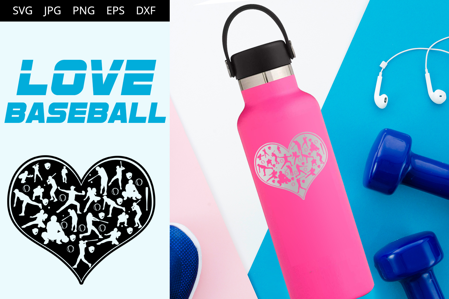Download Free Love Baseball Graphic By Thesilhouettequeenshop Creative Fabrica for Cricut Explore, Silhouette and other cutting machines.