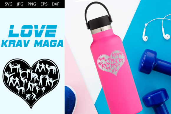 Download Free Love Krav Maga Graphic By Thesilhouettequeenshop Creative Fabrica for Cricut Explore, Silhouette and other cutting machines.