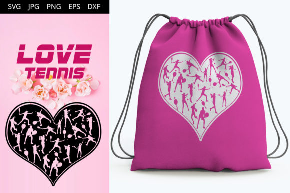 Download Free Love Tennis Grafico Por Thesilhouettequeenshop Creative Fabrica for Cricut Explore, Silhouette and other cutting machines.