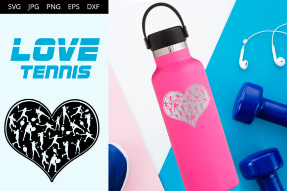 Download Free Love Tennis Graphic By Thesilhouettequeenshop Creative Fabrica for Cricut Explore, Silhouette and other cutting machines.