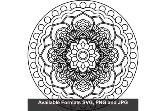Download Free Mandala Art 5 Graphic Graphic By Iwantto Us Creative Fabrica for Cricut Explore, Silhouette and other cutting machines.