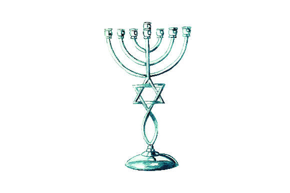 Menorah - Watercolor Style Jewish Craft Cut File By Creative Fabrica Crafts